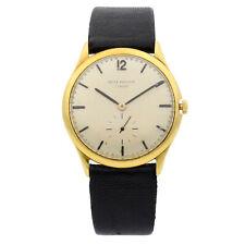 Patek Philippe Calatrava 18K Yellow Gold Leather Manual Wind Vintage Watch 2557