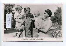 British Royalty, RPPC, Queen Elizabeth, Prince Philip, Charles, Unhappy Anne