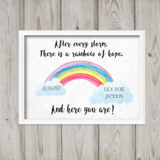 Rainbow Baby PRINT ONLY a4 Gift Picture wall art nursery personalised