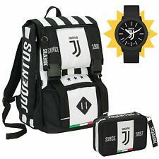 Zaino scuola Juventus ufficiale seven completo di astuccio e orologio in omaggio
