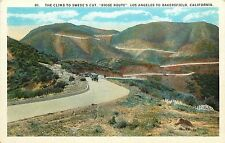 1915-30 Print Pc Climb to Swede's Cut Ridge Route Los Angeles to Bakersfield Ca