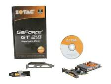 ZOTAC GeForce GT 218 NVIDIA ION 512MB DDR3 Low Profile PCI Express x1 Video Card