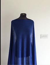 ROYAL SAPHIR bleu en Lin Flammé effet Stretch Jersey couture tissu SS-2017