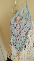 Women's Off Shoulder With Spaghetti Strap Boho Top Size Small