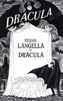 DRACULA/BRAM STOKER/FRANK LANGELLA 1977 THEATER PROGRAM-NEAR MINT TO MINT