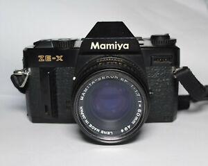 Mamiya ZE-X Spiegelreflex SLR Analog Kamera mit Objektiv Mamiya Sekor 50mm 1.7