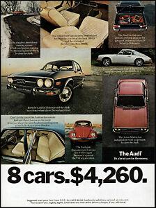 1973 Audi Car automobile 8 cars for 4260 dollars vintage photo print ad ads70