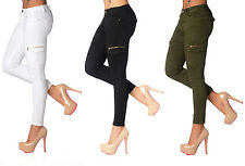 Sexy New Women's Stretchy Jeans Trousers Skinny Slim Combat Style I 111