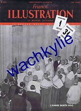 France illustration n°220 du 31/12/1949 Année sainte 1950 Cami Rothschild