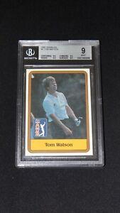 Tom Watson 1981 Donruss Golf Rookie Card BGS 9 Mint 0.5 from Gem Mint 9.5