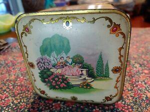 Vintage Lander Poudre de Toilette Litho Powder Box Advertising Tin