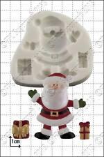 Moule silicone Santa et cadeaux   usage alimentaire FPC Sugarcraft expédition gratuite R-U!