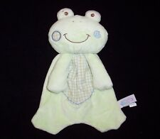 Mary Meyer Green Frog Baby Blanket Plaid Flat Plush Security Lovey