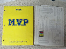 M.V.P.  with serial number sticker  mvp   SEGA video game  arcade   game manual