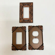 Fancy Oil Rubbed Copper Bronze Metal Wall Rocker Switch Plate Outlet Cover