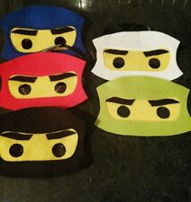 Lego ninjago - handmade felt masks - set of 5 new.