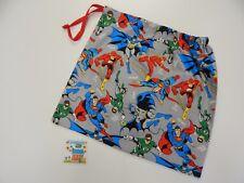 Library Book Accessory Bag Swimming Tote Drawstring  Superman Batman The Flash
