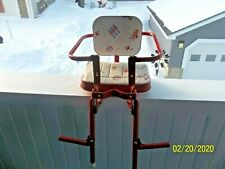 Vintage Doll Ride Along Bike Seat for Doll or Toddler ~ Sturdy Metal & Vinyl