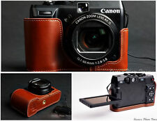 Handmade Vintage Genuine real Leather Half Camera Case bag cover for Canon G1X