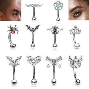 316L Surgical Steel Eyebrow Rings / Curved Barbells Piercing