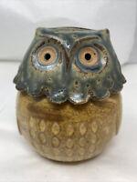 Vintage Ceramic Owl Bird Bank Figurine Retro Mid Century Modern Old Pottery