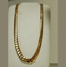 "14K Gold Miami Men's Cuban Curb Link Chain Necklace 24"" Heavy 311.6 Grams 13mm"