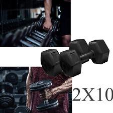 Set Da 2 Pesi Coppia Manubri 2x10kg Pesi per Fitness Per Palestra E Casa ci