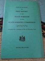 Vintage First Report State Forester State Forestry Commission Delaware 1930