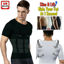 Men's Slimming Body Shaper Posture Corrector Vest Gynecomastia Compression Shirt
