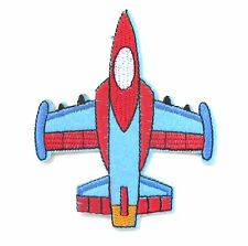 Aeroplane Iron On Patch-  Air Plane Pilot Vehicle Embroidered Applique Badge