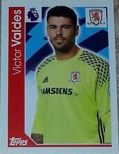 205 Victor Valdes MIDDLESBROUGH 2016/2017 Topps Merlin Premier League sticker