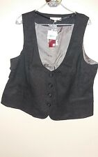 BRAND NEW WITH TAGS LADIES GREY EWM SIZE 22 LINED WAISTCOAT OFFICE SMART CASUAL