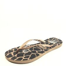 Havaianas Womens Size 41-42 Black/Tan Flip Flop Sandals.