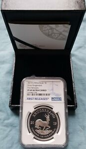 2019 South Africa Silver Proof KrugerrandPF69 First Releases INC ALL OMP & COA