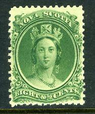 1860 Canada Nova Scotia Stamp: Queen Victoria 8.5c SC#11, MLH &OG;  CV=$12