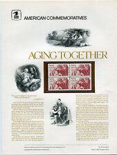 #2011 20c Aging Together USPS Cat. #165 Commemorative Stamp Panel