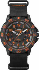 "Timex TW4B05200, Men's ""Expedition"" Black Nylon Watch, Gallatin, Indiglo, Date"