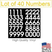 Lot of 40 White,Black,Silver,Blue Vinyl Mailbox,Tool Box,Locker Numbers Stony