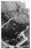 Apache Trail Fish Creek Canyon Arizona 1949 RPPC Photo Postcard Cline 5431