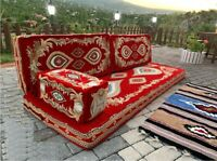 4 pcs Turkish Ottoman Cushion pillows Lounge Couch Sofa Corner Cover Sheet Set!