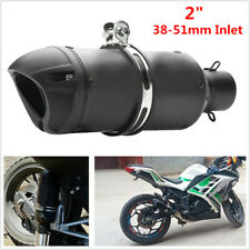 38-51mm Motorcycle Bikes ATV Adjustable Slip-on Black Exhaust Tail Pipe Muffler
