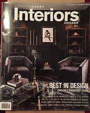 Modern Luxury Interiors Chicago Best In Design Winter Spring 2015 FREE SHIPPING!