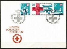 Germany (East) DDR GDR 1972 FDC East German Red Cross - se-tenant strip