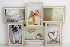 Holz Bilderrahmen für 6 Fotos (10*15 cm) Foto Rahmen Collage Format  42x30x4cm