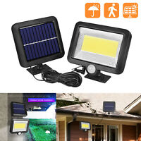 100LED COB Solar Lamp Motion Sensor Waterproof Outdoor Security Garden Way Light