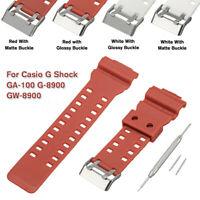 Soft Rubber Watch Strap Band & Pins For G-Shock 22mm GA-100 G-8900 GW-8900