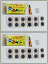 Puncture repair kit x 2  with 12  x  25mm round  patches   +   FREE  DELIVERY