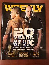 UFC Anthony Pettis and Dana White autographed signed Las Vegas Weekly magazine.
