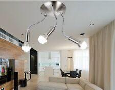 ➠ E14 3x3W LED Deckenleuchte Deckenlampe flexarm MIA bewegbarer Arm nickel 3-flg