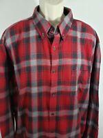 Men's 2XL Red Flannel Plaid Shirt 2211